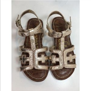 Sam Edelman - Gigi Cara Glitter Sandal - size 5
